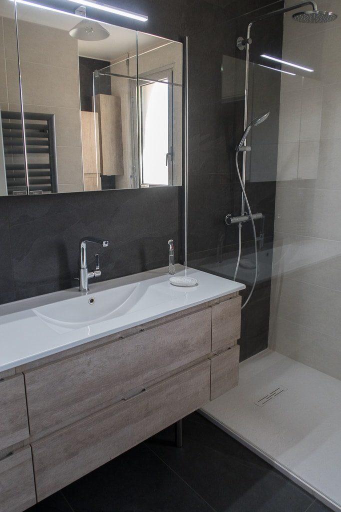 Meuble vasque et douche italienne